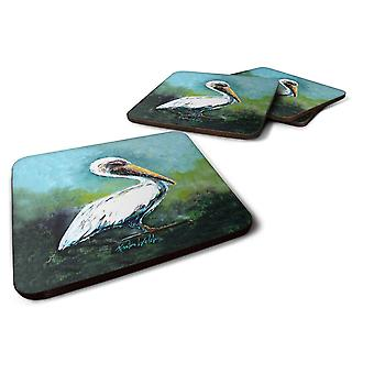Coasters set of 4 blue stand white pelican foam coasters set of 4