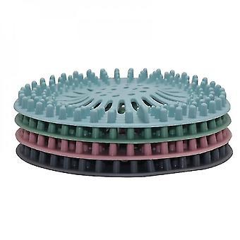 Shower water filters 5pcs silicone kitchen sink strainer filter water stopper floor drain hair bathtub plug bathroom sink