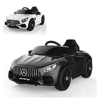 ES-Toys Kids Sähköauto Mercedes AMG GT EVA Rengasnahkaistuin Lisensoitu, Mp3