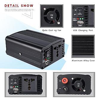 500w Aluminum Alloy Dc12v To Ac110v Auto Car Inverter Charger Converter