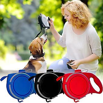 multifunksjon kjæledyr hund bånd med innebygd vannflaske avfallspose dispenser