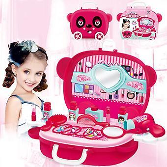 فتاة صغيرة المكياج والماكياج Cosplay لعبة مجموعة صالون تجميل الأطفال