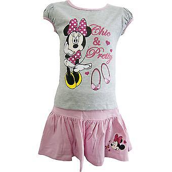 Disney Minnie Maus Sommer T-Shirt für Mädchen & Rock Set