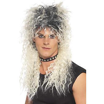 Hardrocker WIG dvoubarevná blondýnka dlouhá Stubby