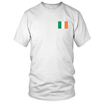Irland irske nasjonale flagg - brodert Logo - 100% bomull t-skjorte Mens T-skjorte