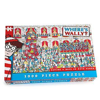 ウォーリーはどこですか-パズル (1000年ピース) ゲイぇジグソーでボールを持つ