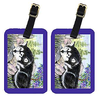 Carolines Treasures  SS8062BT Pair of 2 Alaskan Malamute Luggage Tags