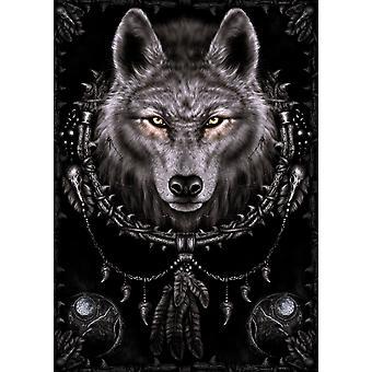Spiral - Träume Wolf Poster Plakat-Druck