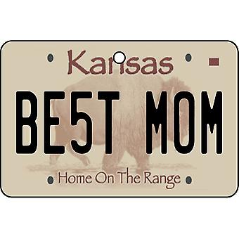 Kansas - Best Mom License Plate Car Air Freshener