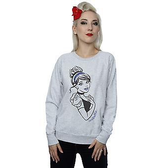 Disney prinsesse kvinners Askepott Glitter Sweatshirt