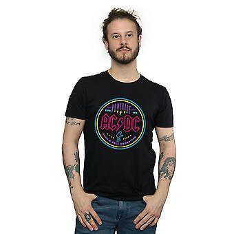 AC/DC miesten Circle Neon T-paita