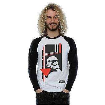 Star Wars Men's Force Awakens Phasma Long Sleeved Baseball Shirt