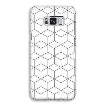 Samsung Galaxy S8 volledige Print Case (Glossy) - kubussen zwart en wit