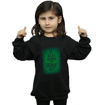 Marvel Girls Hulk Stay Angry Sweatshirt