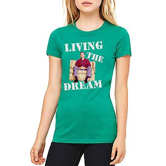 Married With Children Living Dream Women's Kelly Green T-shirt