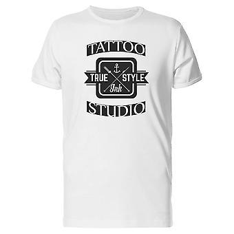 Tattoo-echte Tinte Style T-Shirt Herren-Bild von Shutterstock