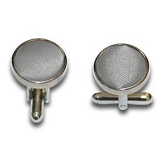 Platinum platte satijnen Manchetknopen