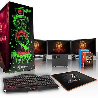 Felle GOBBLER Gaming PC, snelle Intel Core i5 8600 K 4.5 GHz, 2 TB HDD, 16 GB RAM, RTX 2070 8 GB