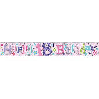 Simon Elvin Foil Banner Happy 18th Birthday