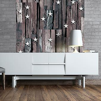 Wallpaper - Stars on Wood
