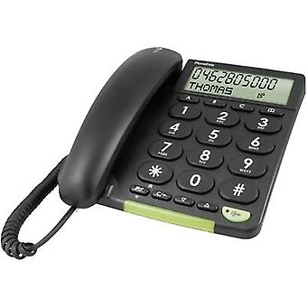 doro PhoneEasy 312cs Corded Big Button Visual call notification Matt Black
