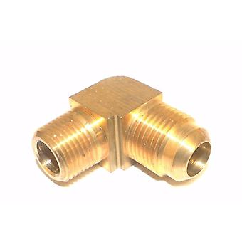 "Big A Service Line 3-14986 90 deg Male To Male Elbow Brass Fitting 1/2"" x 3/8"""