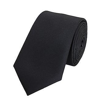 Stropdas tie stropdas tie 6cm zwart Denimlook uni Fabio Farini