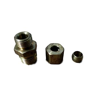 Big A Service Line 3-16844 Brass Male Connector Fitting Kit 1/4