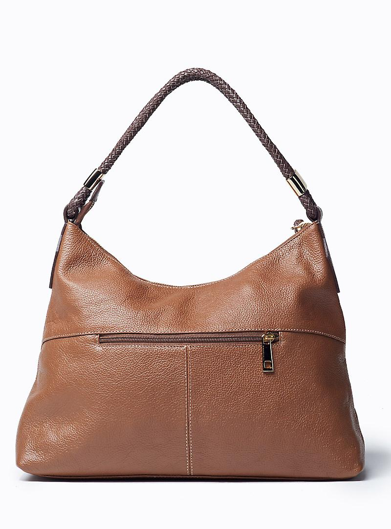Viver Moon Brown Leather Shoulder Bag