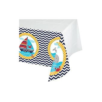 Small sailor tablecloth 137 x 259 cm sailor party birthday decoration