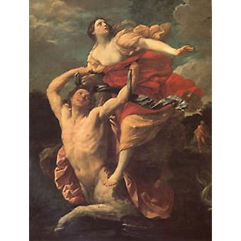 Deianira sietää Centaur nessus, Guido Reni, 50x40cm