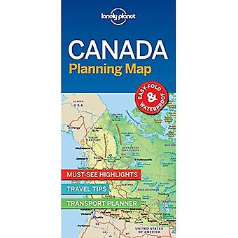 Lonely Planet Canada carte de planification
