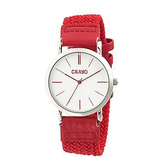 Crayo Symphony Braided-Nylon-Band Unisex Watch - Red