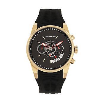 Morphic M72 Series Strap Watch - Black/Gold