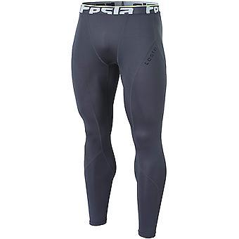TSLA Tesla YUP33 Thermal Winter Gear Compression Pants - Dark Gray/Dark Gray