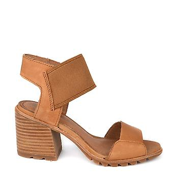 Sorel Nadia Camel Brown Heeled Sandal