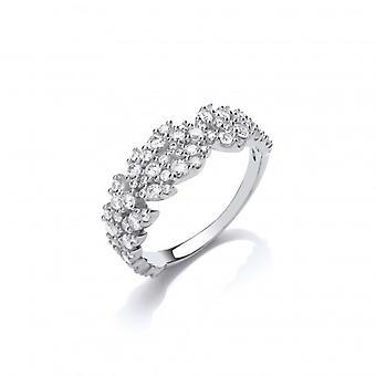 Cavendish francia ezüst és CZ szirmok Ring