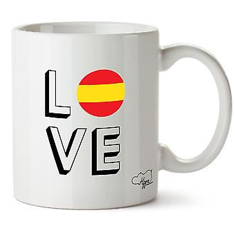 Hippowarehouse Love Spain Printed Mug Cup Ceramic 10oz