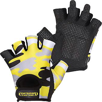 Contraband Sports 5217 Pink Label Camo Weight Lifting Gloves - Yellow