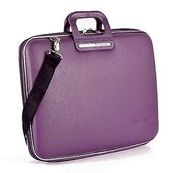 Bombata Bag Firenze Briefcase for 17 Inch Laptop by Fabio Guidoni - Plum