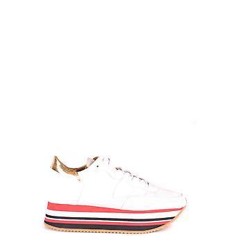 Philippe Modelo Eildmm03 Mujer's Zapatillas de cuero blanco
