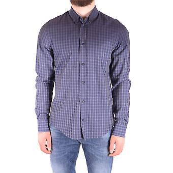 Dondup Ezbc051114 Men's Blue Cotton Shirt