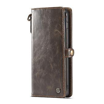 CASEME Samsung Galaxy S10 + Retro leather wallet Case-brown