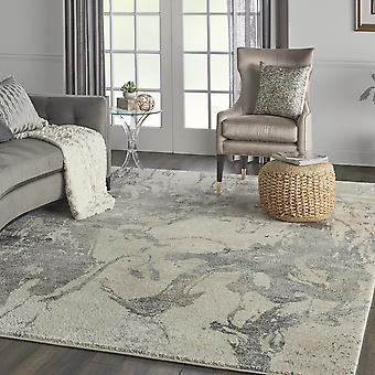 Fusion Rugs Fss16 In Cream And Grey By Nourison