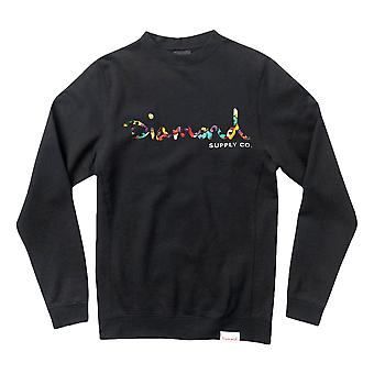 Diamond Supply Co OG Script Fasten Sweatshirt Black
