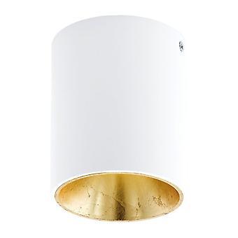 Eglo Polasso redondo Downlight de superficie de montaje de techo en blanco y oro