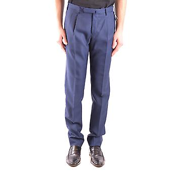 Incotex Ezbc093062 Men's Blue Wool Pants
