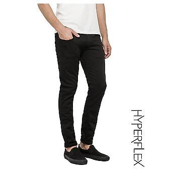 Replay Jeans Hyperflex Anbass Regular Slim Fit Jeans (true Black)
