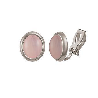 Evige samling menuet rosenkvarts sølv Tone Stud klip på øreringe