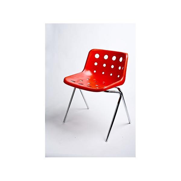 Loft Robin Day 4 Leg Red Plastic Polo Chair